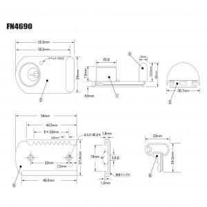 ファスナーロック F-4690の図面