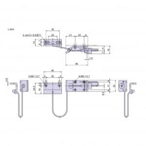 点検口用ワーヤーストッパー L-503の図面