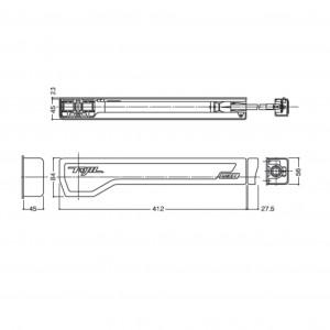 引き戸用オートクローザー 10T-N004R(L)(図面)