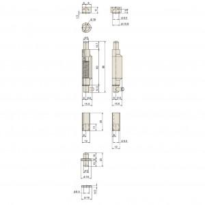 点検口用ピボットヒンジ B-117Nの画像