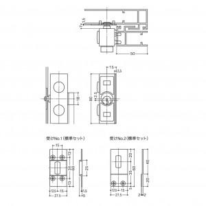外部締錠 553-X0307-SA,BTの図面