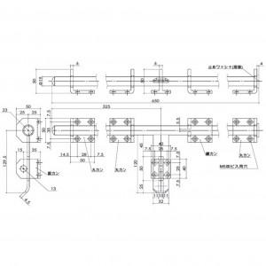 ユニクロ超強力丸棒貫抜 D-39の図面