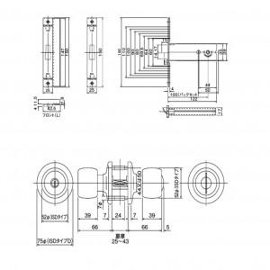 アルミサッシ取替錠 NX(X)-DAC-100の図面