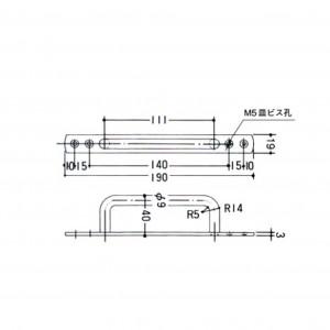 座付取手 Ⅱ 111mm D29(図面)