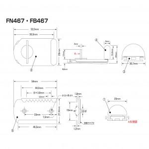 ファスナーロック FN-467.FB-467の図面